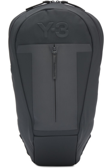 Y-3 - Blue & Grey Neoprene Backpack
