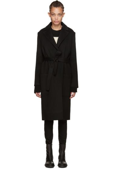 Helmut Lang - Black Belted Coat