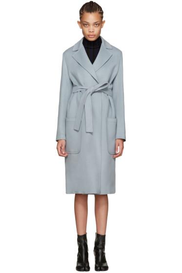 Helmut Lang - Blue Belted Coat
