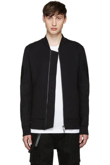 Helmut Lang - Black Bonded Jersey Bomber Jacket