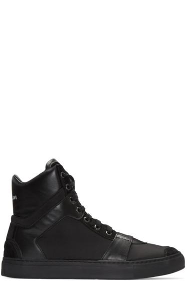 Helmut Lang - Black Nylon Heritage High-Top Sneakers