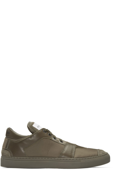 Helmut Lang - Brown Nylon Heritage Sneakers