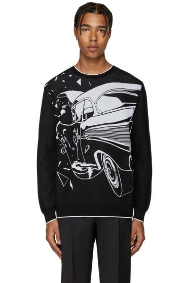 Christopher Kane - Black Car Crash Sweater