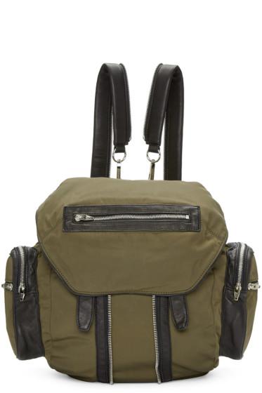 Alexander Wang - Green Nylon & Leather Marti Backpack