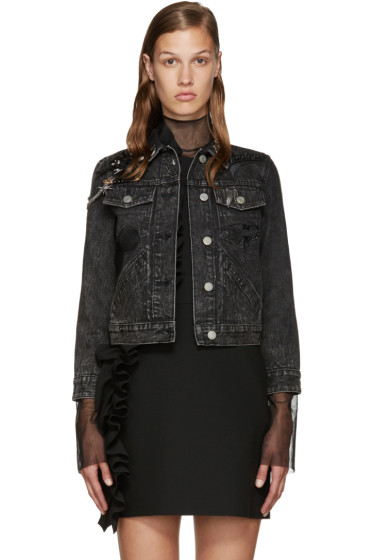 Marc Jacobs - Black Embellished Denim Jacket