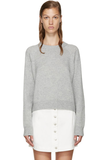 T by Alexander Wang - Grey Crewneck Sweater