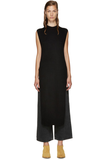 T by Alexander Wang - Black Wool Sleeveless Sweater