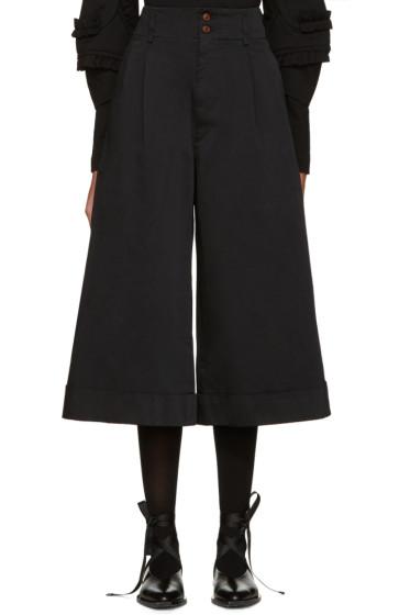 Comme des Garçons - Black Satin Cuffed Trousers