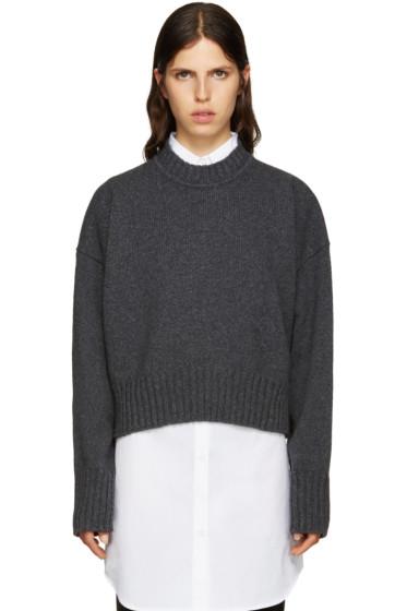 Jil Sander - Grey Wool Cropped Sweater