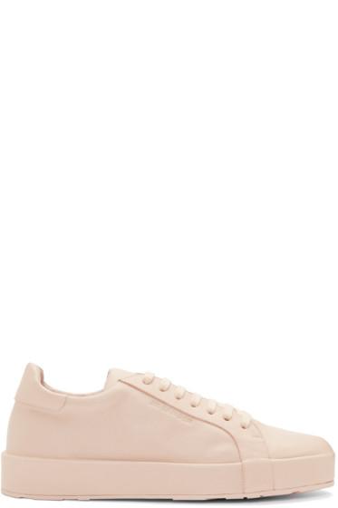 Jil Sander - Pink Leather Miro Sneakers