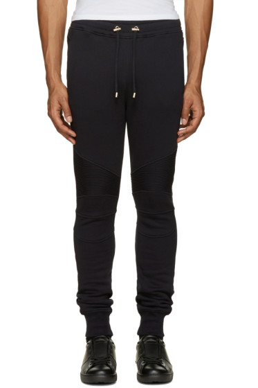 Balmain - Navy Biker Lounge Pants
