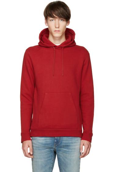 Balmain - Red Fleece Hoodie