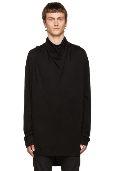 Balmain - Black Cowl Neck Sweater
