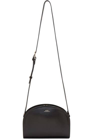 A.P.C. - Black Half Moon Bag