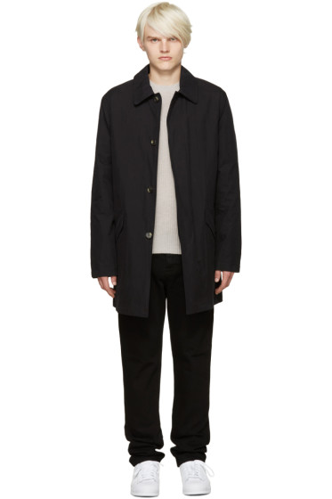 A.P.C. - Black Mac Coat