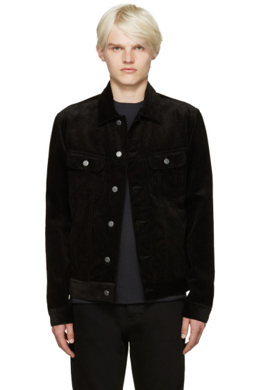 A.P.C. - Black Corduroy Highway Jacket