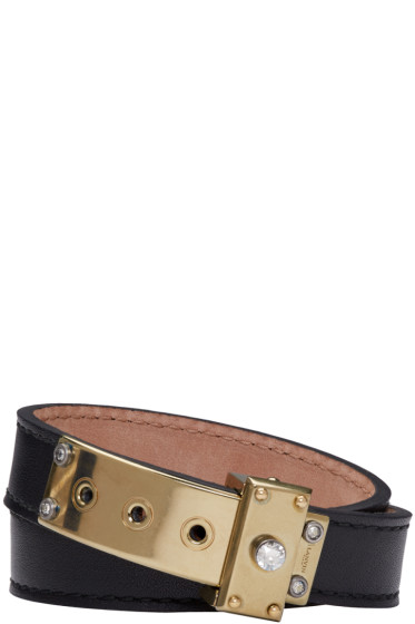 Lanvin - Black Leather Wrap Bracelet