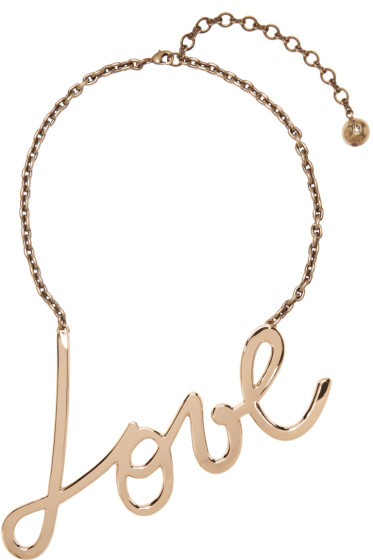 Lanvin - Gold 'Love' Necklace