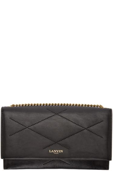 Lanvin - Black Leather Chain Wallet