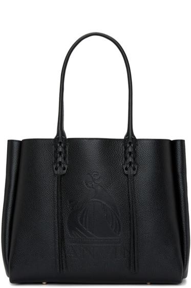 Lanvin - Black Small Logo Shopper Tote