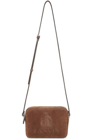 Lanvin - Tan Suede Nomad Camera Bag