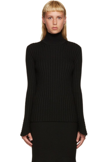 Lanvin - Black Flared Sleeve Turtleneck