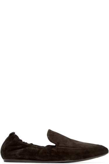 Lanvin - Black Suede Loafers