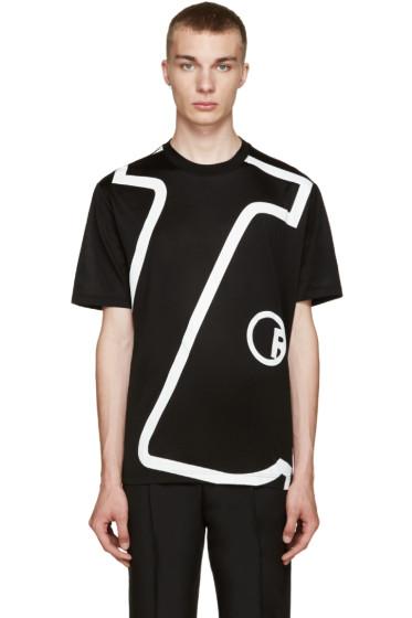 Lanvin - Black 'L' T-Shirt