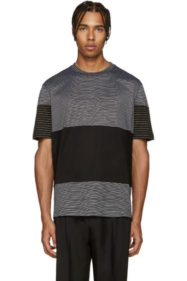Lanvin - Black Striped Mix T-Shirt