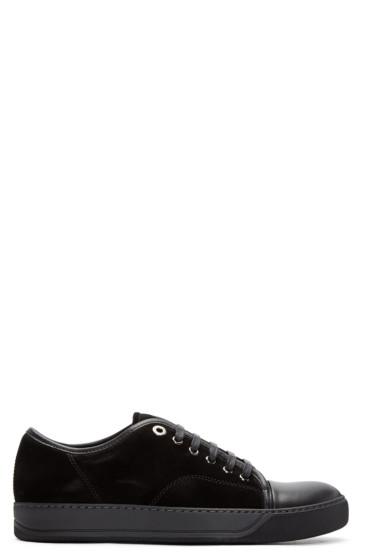 Lanvin - Black Nubuck Classic Tennis Sneakers