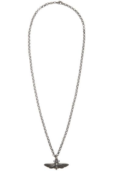 Alexander McQueen - Silver Moth Necklace