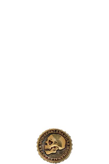 Alexander McQueen - Silver Skull Coin Ring
