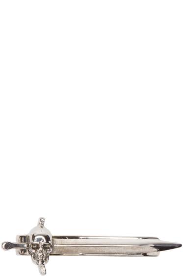 Alexander McQueen - Silver Skull Sword Tie Bar