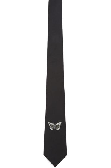 Alexander McQueen - Black Silk Butterfly Tie
