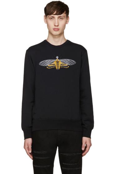 Alexander McQueen - Black Embroidered Moth Pullover