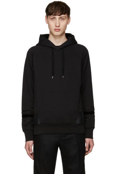 Alexander McQueen - Black Multi-Texture Hoodie