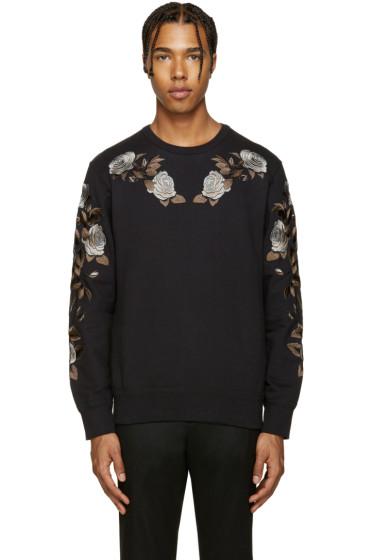 Alexander McQueen - Black Floral Pullover