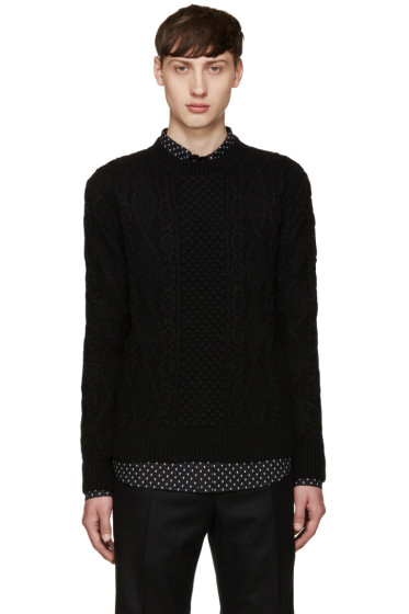 Alexander McQueen - Black Cableknit Sweater