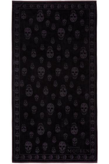 Alexander McQueen - Black Tonal Skulls Towel
