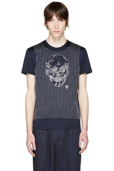 Alexander McQueen - Navy Skull T-Shirt