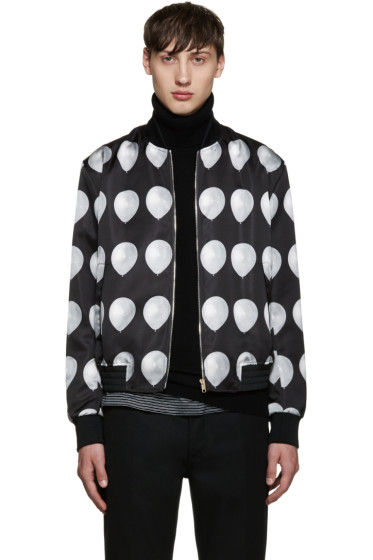 Paul Smith - Black Balloon Print Bomber Jacket