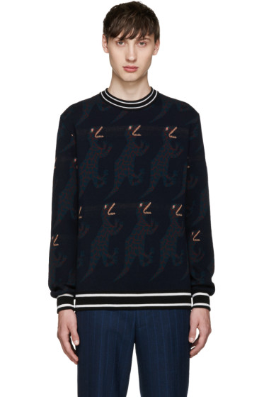 Paul Smith - Navy Dinosaur Sweater