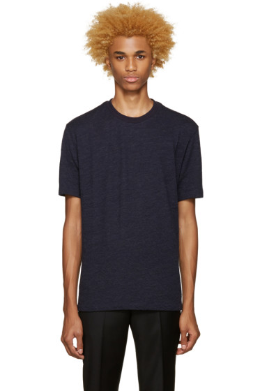 Paul Smith - Navy Textured T-Shirt