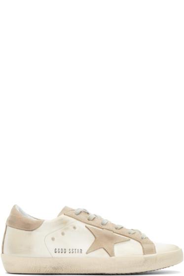Golden Goose - White Satin Superstar Sneakers