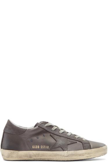 Golden Goose - Grey Satin Superstar Sneakers