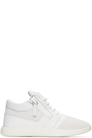 Giuseppe Zanotti - White Leather Sneakers