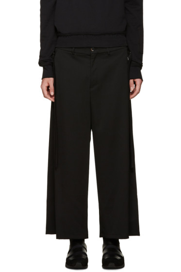 Damir Doma - Black Wide-Leg Wool Trousers
