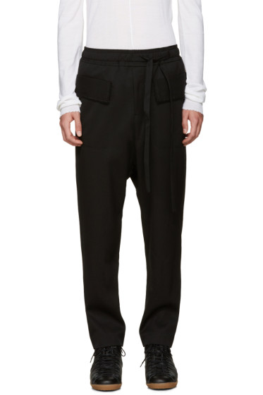 Damir Doma - Black Wool Sarouel Trousers