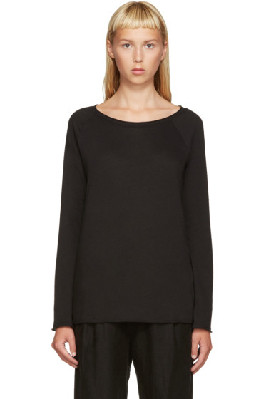 Raquel Allegra - Black Jersey Raglan T-Shirt