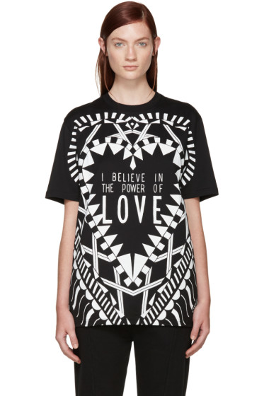 Givenchy - Black 'Power of Love' T-Shirt